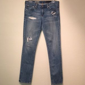 AG Jeans the Stevie slim straight distressed